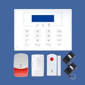 China GSM/PSTN Dual network wireless home alarms in LCD screen supporting CID on sale