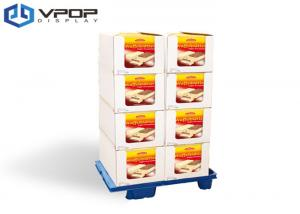 China UV Treatment Cardboard Pallet Display , Eco - Friendly Corrugated Pallet Display on sale