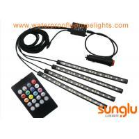 Multicolor Music Car Interior Light / 5050 RGB LED Underdash Lighting Kit