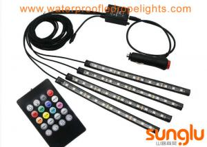 China Multicolor Music Car Interior Light / 5050 RGB LED Underdash Lighting Kit on sale