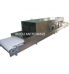 China Belt Type Industrial Microwave Drying Machine For Grain / Nuts Baking Puffing on sale