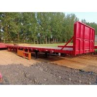 China 12.5m 3 Axles 40FT Second Hand Semi Trailers Low Flatbed Semi Trailer ISO Certification on sale
