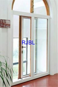 China Customized Aluminium Coated Windows , wood Double Glazed Windows With Arch At Top on sale