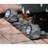 Garden 4 LED Stone Solar Lights 1.2 Lumens Outdoor Rock LED Solar Spot Light