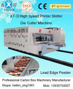 China Impresora de color acanalada de la caja 5 del cartón con el rodillo/el doctor cuchilla de cerámica de Anilox on sale