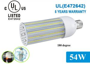 China 180 Degree Samsung 5630 UL LED Corn COB Light Bulbs 54W 2700K - 6500K for Pathway Lighting on sale