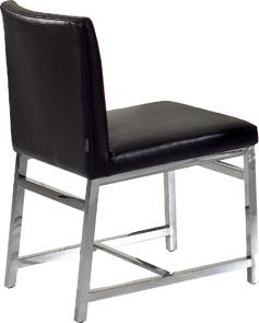 Quality PU Contemporary Dining Room Chairs, Italian Metal Upholstered Dining Chair for sale