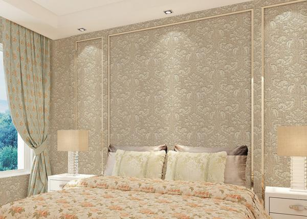 Floral decoration contemporary bedroom wallpaper , Nonwoven modern ...