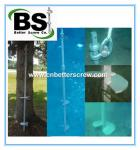 Competitive price square lead helical piers for deep foundation