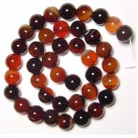 Semi Precious Gem Beads, Natural Gemstone Agate Beads, Round Carnelian Agate Beads