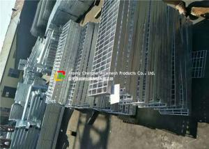 China Welded Serrated Steel Bar Grating , Various Size Galvanized steel Grating on sale