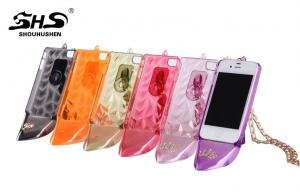 China Apple iPhone protective Cases Lady High-heeled Shoes PC Cell Phone Cases with Holder on sale