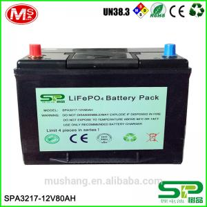 China deep cycle 2000 times 12v 80ah lifepo4 battery pack replace lead acid battery on sale