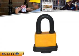 China ABUS Hardened Steel Shackle Laminated Safety Dustproof Padlock on sale