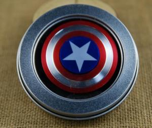 ... Quality EDC New Captain America metal hand spinner, decompression fidget spinner toys for sale