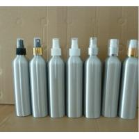 300ml aluminium bottles with hot stamping caps, plastic spray pump aluminium bottles