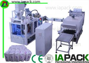 China 1KG-2KG Flour Paper Bag Packing Machine 6-22bags/min 7kw Power With Heat Shrinking on sale