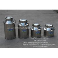 Safety Double Layers 40L Stainless Steel Milk Bucket For Dairy Farm