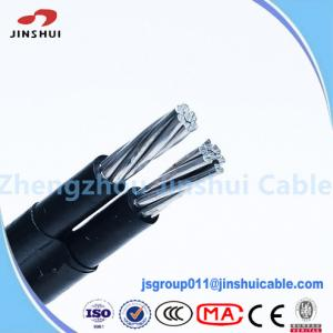 China 1kv / 11kv Abc Cable Service Drop Duplex Conductor , B 399 Aluminum Underground Wire on sale