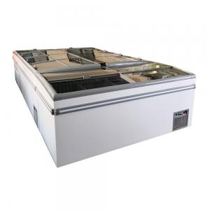 China 2.1M 2.5M Frost Free Supermarket Chest Freezer For Frozen Meats Chickens on sale