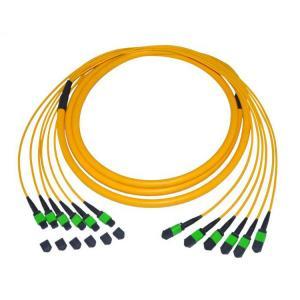 China Single Mode 9 / 125 Fiber Optic Patch Cord Cable 12 Fiber Trunk MTP / MPO Pvc on sale