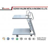 Anti - Slip Steel Two Platform Rolling Step Ladder ,150 kg Load Capacity