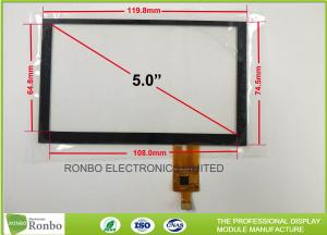 China Tempered Glass G + G Capacitive Touch Panel , 5.0 inch 800x480 Multi Touch Screen on sale