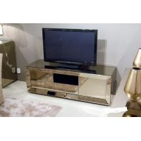 Popular Hotel Mirrored Glass TV Cabinet , Black Mirrored Corner TV Cabinet