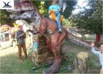 Life Size Riding Dinosaur For Kids , Animatronic Kids Ride On Dinosaur