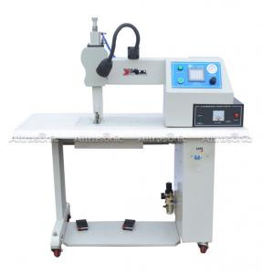 China Fabric Sewing Cutting Ultrasonic Sealing Equipment 35khz With Titanium Wheel on sale