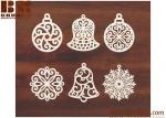 Dyeing Series - Variety of Colors Filigree Snowflake Wood Charm/Pendant