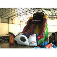 Exciting Inflatable commercial dry slide football sport games themed inflatable standard slide