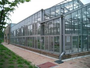 China Easily Installed Agricultural Steel Frame Glass House , Commercial Green House on sale