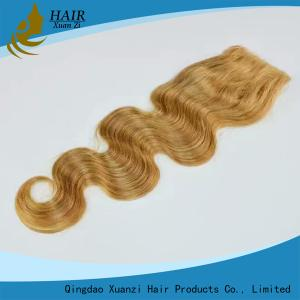 China Dark Brown Human Hair Top Closures with Natural Baby Hair No Shedding No Tangle on sale