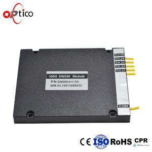 China Epoxy Free Optical Path 100G DWDM 4+1CH High Channel Isolation In ABS Module on sale