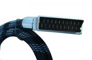 China Copper TV Scart Cable Hot plug Enabled With Metal Head For DVD on sale