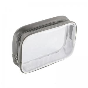 China Waterproof PVC Transparent Leather Zipper Makeup Pouch on sale