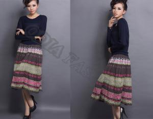 China Colorful Comfortable Ladies Wool Skirt Retro Casual With Breathable on sale