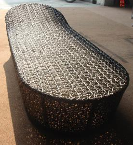China Wicker Sun Lounger with powder coating for Hotel, Garden and Beach by Clover Lifestyle China Outdoor Furniture supplier
