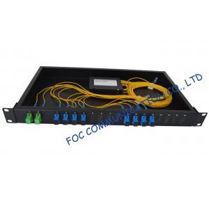 China Rack Mount Fiber plc splitter module For Telecommunications, SC / UPC Connector on sale