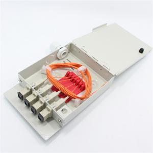 China Metal Shell Grey Fiber Optic Termination Box on sale