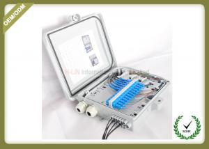 China Outdoor FTTH Wall Mount Fiber Termination Box 24 Core , Optical Fiber Junction Box on sale
