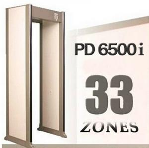 China PD6500i 33 Detection Zones Archway Metal Detector Gate on sale
