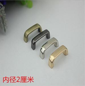 China Luxury handbag fitting light gold zinc alloy 20 mm metal arch bridge with high polishing on sale