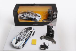 China Children rc car 2138D 1:14 4-CH electric toy car motors with light and charger on sale