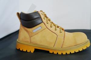 China Up Ankle Yellow Steel Safety Toe Work Shoes For Man And Women on sale