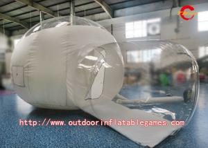 China Outdoor Camping PVC Inflatable Bubble Room Clear Tent With Blower on sale