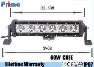 China 15.5 Inch Single Row LED Car Light Bar 60W High Power Sealed Housing PC Lens on sale