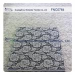 Women Garments Nylon Cotton Lace Fabric With Floral Panel 1.45 - 1.5m Width