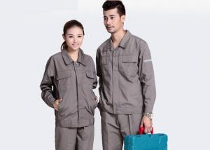 China Embroidered Industrial Work Uniforms Construction Work Use With SGS Certification on sale